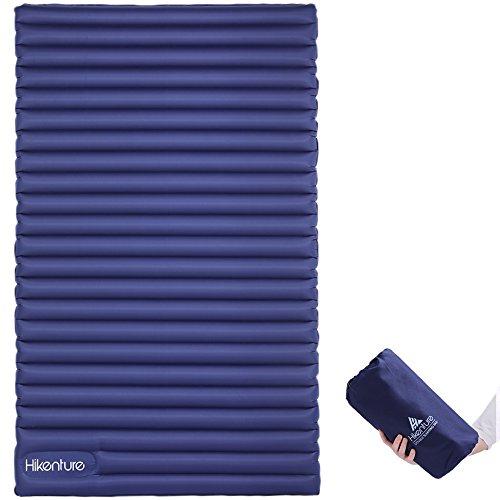 Hikenture Camping Isomatte Kleines Packmaß Ultraleichte Aufblasbare Doppel Matratze - Sleeping Pad für Camping, Reise, Outdoor, Wandern, Strand (Navyblau) (Navyblau Neu)