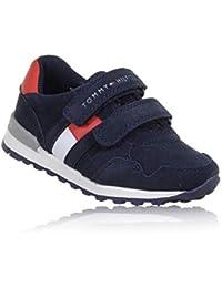 996ddb56938 Tommy Hilfiger T1B4-30075-0315 Azul Eco Nubuck Niño Entrenadores Zapatos