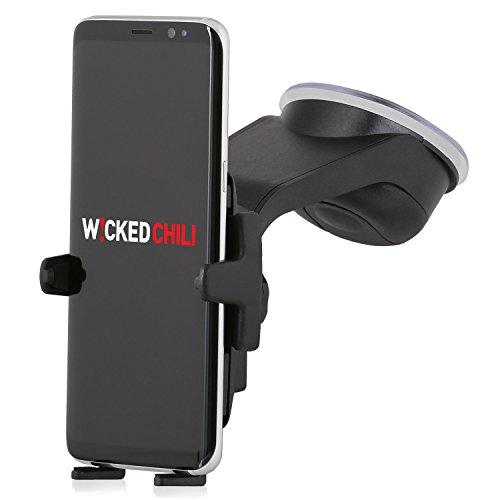 Wicked Chili KFZ Halterung für Samsung Galaxy S10, S10e, S9, S8, S7, S7, S6, S5, A5, J5, A3, J3, Edge, Mini Design Mount Handy Autohalterung (Für Case und Hülle, vibrationsfrei, Made in Germany)