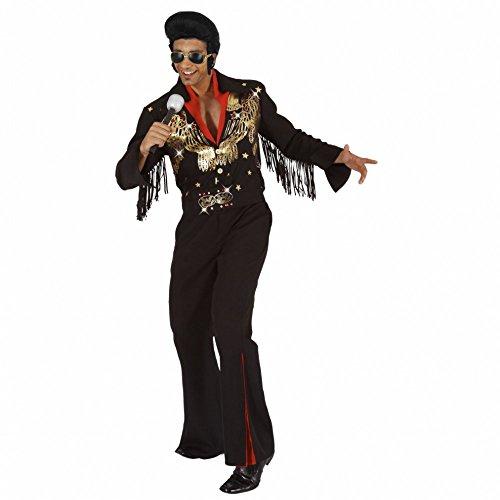 Mortino Kostüm Rockstar Elvis Gr. M - XXL Anzug schwarz Sänger 50er Jahre Musiker - Elvis Kostüm Schwarz