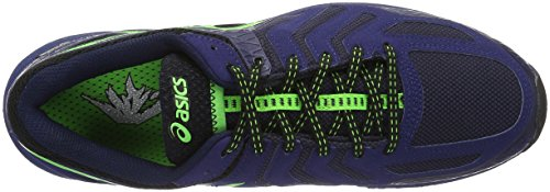 Asics Herren Gel-Fujiattack 5 G-Tx Traillaufschuhe Schwarz (black/green Gecko/blue)