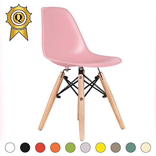 Promo 1 x Chaise ENFANT Inspiration Eiffel Pieds Bois Assise Rose Mobistyl® DSWK-PI-1