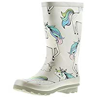Miss Riot Mystical Girls Rubber Material Wellies Silver