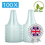 100x Ear Thermometer Probe Covers/Refill Caps/Lens Filters for All Braun ThermoScan Models and Other Types of Digital Thermometers/Pack of 100 Pieces
