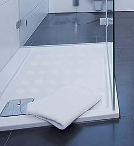 Kara Grip Anti Rutsch Sticker fein Dusche Punkte 90 Stk a´ 3 cm, anstatt Duschmatte, Wanneneinlage oder Badematte rutschfeste Anti Rutsch Streifen Matten
