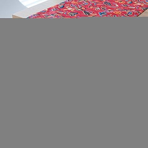 Algodón Oeste Americano mesa de comedor pabellón paños sobre la bandera La bandera hotel cama cama Toalla final conceptos modernos de bandera roja 30*200, , el cuadro rojo convolvulus con