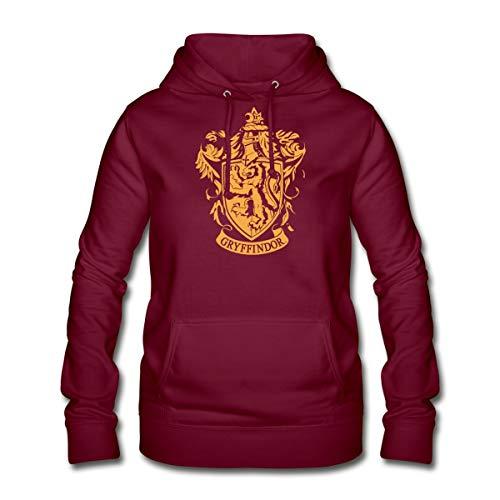 Harry Potter Gryffindor Wappen Frauen Hoodie, S (36), Bordeaux