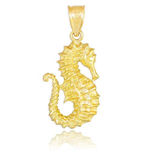 10-ct-471-1000-or-hippocampe-pendentif-collier-livre-avec-un-45-cm-chaine