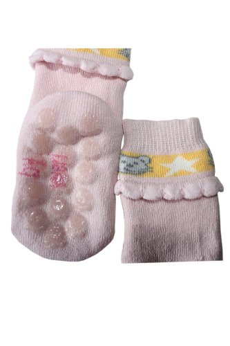 Weri Spezials ABS Baby Chaussettes 3D Frill, Couleur: Rose Rose