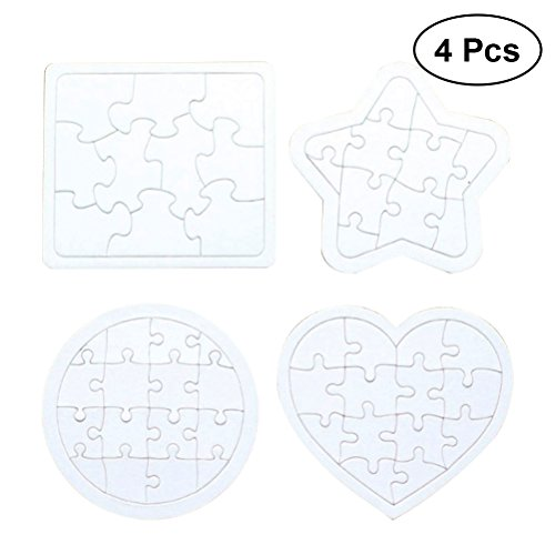 zzle Blanko Puzzle zum bemalen und selbt gestalten (weiß) ()