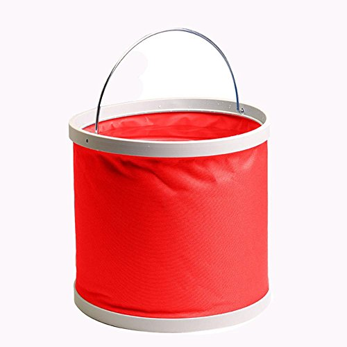 telescopic-bucket-portable-bucket-car-11l-folding-bucket-red