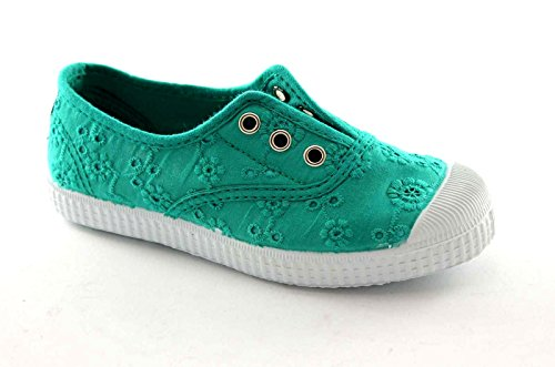 CIENTA 70998 28/30 verde scarpe bambina elastico tessuto sciangallo 29