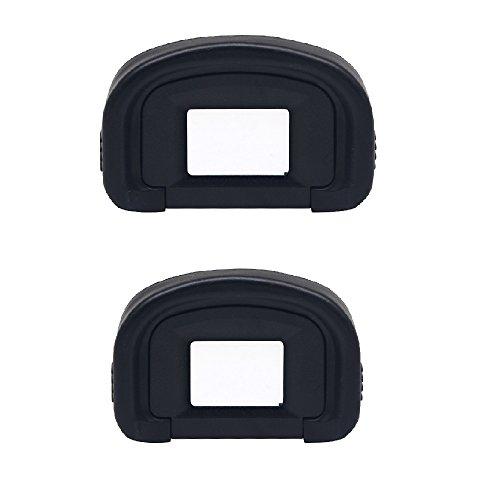 Alliebe 2 Pack Okular Augenmuschel Eye Cup für Canon EOS-1D X/1Ds Mark III/1D Mark IV/1D Mark III/EOS 5D Mark III/7D ersetzt Canon EG Okular