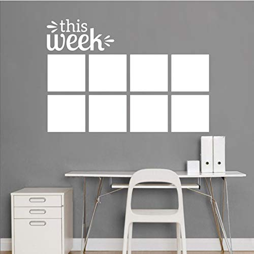 Wandaufkleber tafel planer abnehmbare vinyl tafel kalender dekoration aufkleber memo home wandtattoo aufkleber 42x61cm