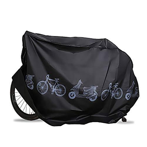 Funda para Bicicleta Impermeable, Funda de Protección Bicicleta Bici Moto Cubierta a Prueba de Polvo Sol Lluvia Agua UV Rayos Ultravioleta - Negro