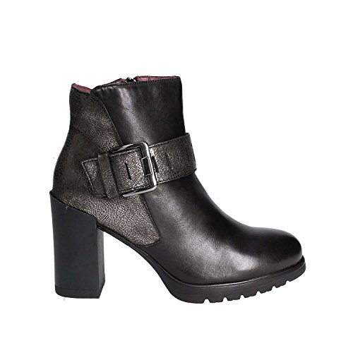 Stonefly Damen Over 10 Nappa Chelsea Boots, Schwarz (Nero/Black), 38 EU (Boot Heel Nappa Ankle High)