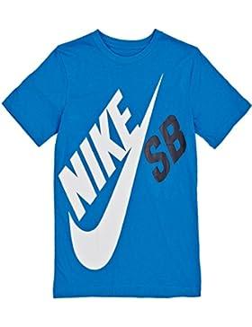 Nike SB Camiseta infantil Icónico Nike Grande silbido Luz Foto Azul Siglos 8-15 AÑOS