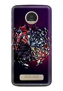 Motorola Moto Z Play Cover, Designer Printed Back Case, Back Cover by CareFone