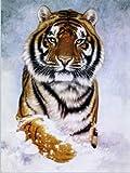 YISUMEI Decke 150x200 cm Kuscheldecken Sanft Flanell Weich Fleecedecke Bettüberwurf Tiger im Schnee