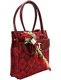 Hugo Fashionable Fancy Designer Maroon Party Wear Hand Bag For Girls & Women