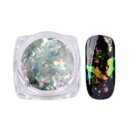 Nackt Glasur (Nail Art Gorgeous Chameleon Spiegelpuder Maniküre Chrom Pigment Glitzer Powder Creative Nail Art Powder (D))