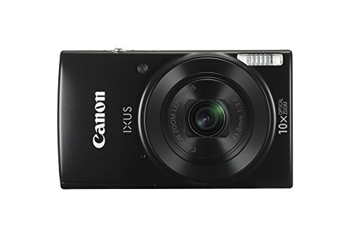 Canon IXUS 190 Digitalkamera (20 Megapixel, 10x optischer Zoom, 6,8 cm (2,7 Zoll) LCD Display, WLAN, NFC, HD Movies) schwarz