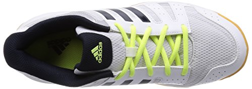 adidas Ligra 3, Chaussures de Volleyball Femme Blanc - Weiß (Ftwr White/Night Navy/Silver Met.)