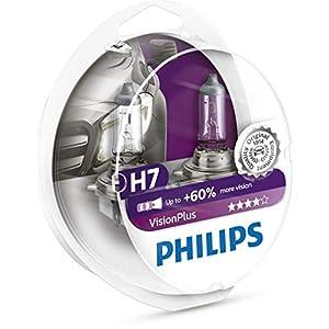 Philips 12972VPS2 VisionPlus +60% H7 Scheinwerferlampe 12972VPS2, 2er Kit