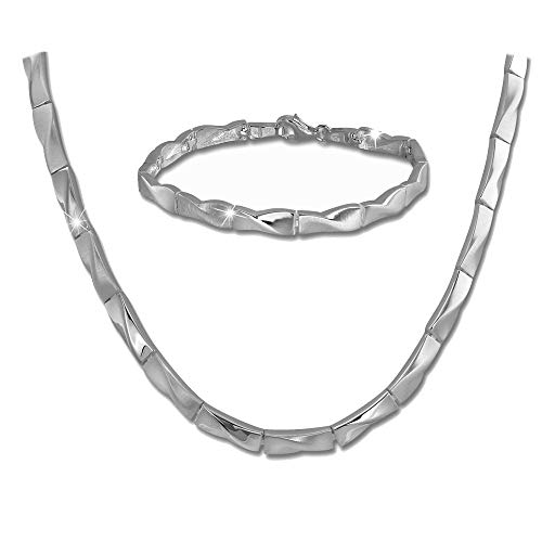 SilberDream Outline Collier & Armband Damen Schmuckset Sterling Silber SDS463J