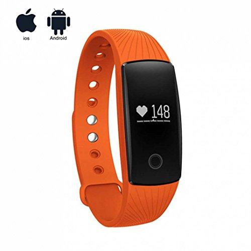 Aktivitätstracker mit Pulsmesser mit Touchscreen Aktivitäts-Tracker,Herzfrequenz,Schrittzähler,Schlaf Monitor,Kalorien Tracker Aktivitäten Tracker für Android/sony/apple/ios