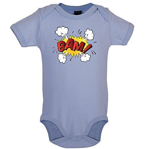 Dressdown Superheld Bam - Lustiger Baby-Body - Taubenblau - 0 bis 3 Monate