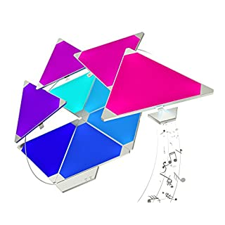 nanoleaf Light Panels Rhythm Starter Kit - 15x Modulare Smarte LED mit Sound Modul, App Steuerung [16 Millionen Farben, Alexa kompatibel, Plug and Play für iOS (Apple Home Kit kompatibel) & Android