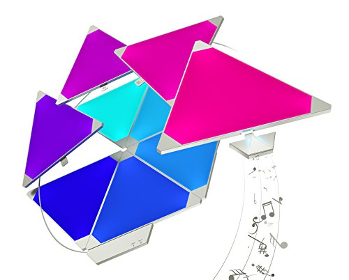 nanoleaf Light Panels Rhythm Starter Kit - 15x Modulare Smarte LED mit Sound Modul, App Steuerung [16 Millionen Farben, Alexa kompatibel, Plug and Play für iOS (Apple Home Kit kompatibel) & Android -