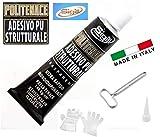 COLLA ADESIVO STRUTTURALE POLIURETANICO TRASPARENTE POLITENACE 60ml' SIGILL' MADE IN ITALY