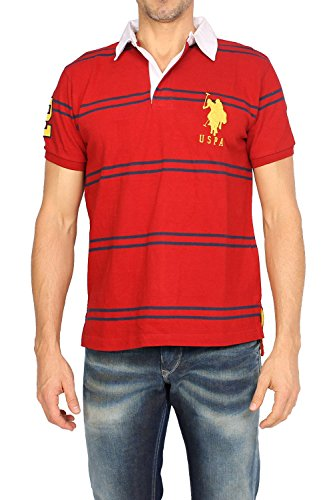 us-polo-assn-polo-pour-hommes-slim-fit-rouge-3xl-taille-us-xxl