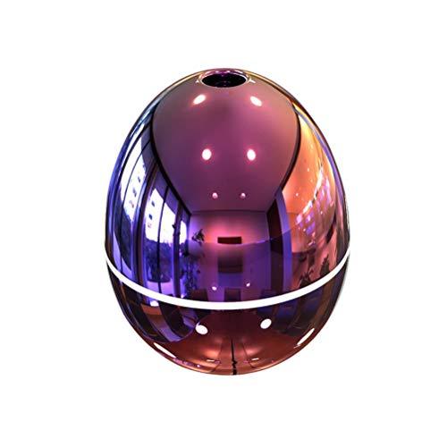 VORCOOL 50ml Aceite Esencial Difusor Aroma Humidificador Mini purificador de Aire Huevo en Forma Espejo Cristal Fresco Pétalo atomizador USB para la Sala de Estar del Dormitorio del automóvil (Rosa)
