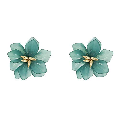 HUGJOU Ohrring Modeschmuck Übertrieben Große Blume Ohrringe DREI Farben Strand Urlaub Ohrringe Für Momen -