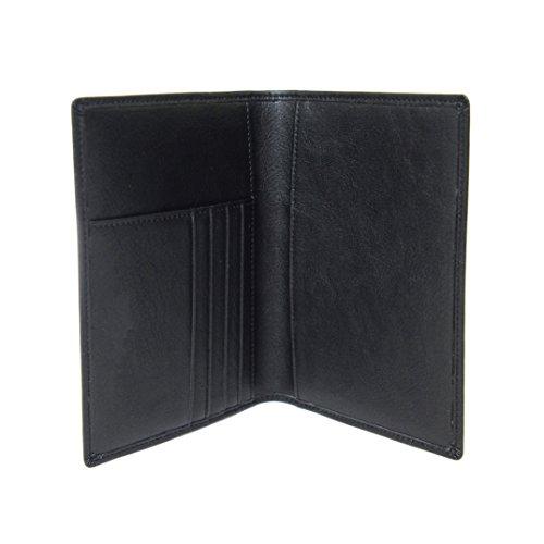 Reisepasshülle von Nomalite | Eleganter, sicherer Reiseorganizer und travel brieftasche. Schwarz, Leder für Herren, Damen und Kinder. Reisepass etui / tasche mit 4 Kreditkartenfächern (RFID schutz) (Tumi Herren Tasche)