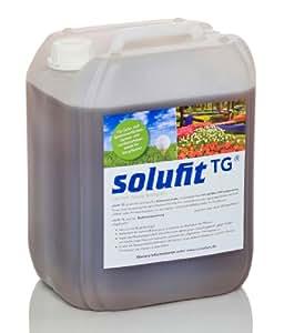solufit TG - rein biologisches hochkonzentriertes Kompostextrakt zur Pflanzenstärkung von Rasen, Rosen, Zierpflanzen, Topfpflanzen, Rollrasen, 10 Liter