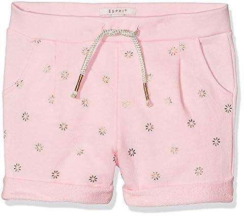 ESPRIT Mädchen Regular Fit Shorts RJ26033, Einfarbig, Gr. 104, Rosa (LIGHT PINK 311)