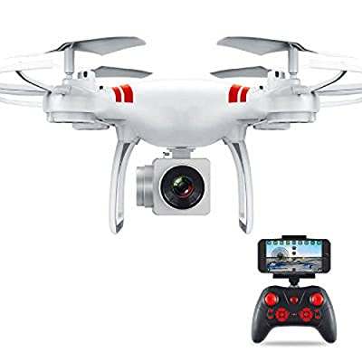 JXWANG Drone With Camera Fingers Glide Track 1080P Wide Angle Camera Live Video 4 Axis Headless Mode Quadcopter With One Key Return