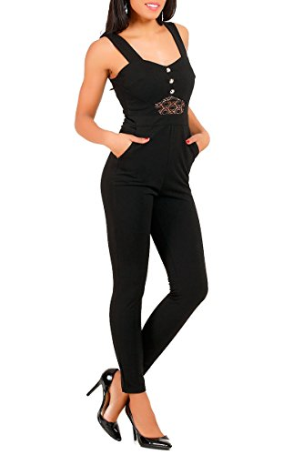 INFINIE PASSION - Dentelle - Combinaison pantalon noire Noir