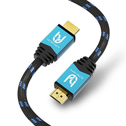 Ultra HDTV Premium 4K HDMI Kabel 10 Meter/HDMI 2.0b, 4K bei vollen 60Hz (Keine Ruckler), HDR10+, 3D, ARC, Ethernet, Dolby Vision -