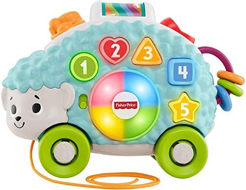 Fisher-Price- Parlamici Baby Riccio Forme e Colori Giocattolo Educativo con Luci, Suoni e Musica per Stimolare Il Bambino, dai 9+ Mesi, Multicolore, GJB09