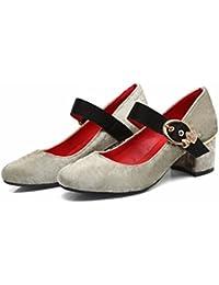 RFF-Women's Shoes Dame de l'automne, Grande Taille, Chaussures Unique, Fond Épais, des Petites Chaussures Blanc,Blanc 35