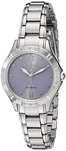 Citizen Femme 30mm Bracelet Acier Inoxydable Quartz Montre EM0450-53X