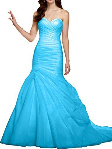 402e32cb7a83b7 Victory Bridal Festlich Herzausschnitt Geraft Abendkleider ballkleider  Partykleider Lang Meerjungfrau Neuheit Blau