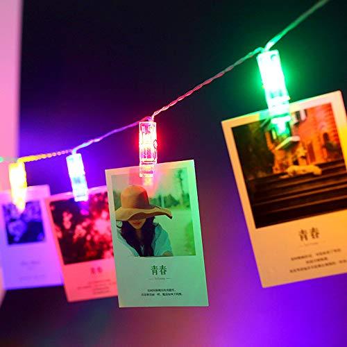 Cadena de luces LED con clip para foto