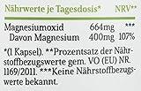 Magnesium Kapseln - 365 Stück (1 Jahr). 664mg je Kapsel, davon 400mg ELEMENTARES (reines) Magnesium - höherer...