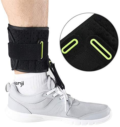 Dyhqq supporto per la caviglia ortesi per tutore per il piede - compressione avvolgente regolabile ammortizzata per una migliore camminata, previene i crampi alle distorsioni della caviglia